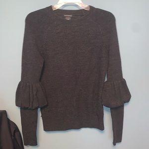 Club Monaco Merino Wool Juliet Sleeve Crew Neck Sweater
